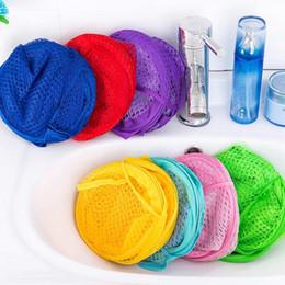 pop up bags Australia - Foldable Washing Clothes Laundry Basket Pop Up Easy Open Bag Hamper Mesh Storage For College Dorm JJ04