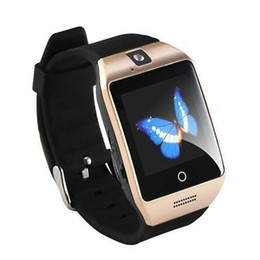 Wholesale Facebook Messaging - NFC Bluetooth Smart Watch Q18 With Camera FM Facebook SMS MP3 Smartwatch Support Sim Card For IOS Android Phone