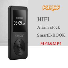 Wholesale Mp3 Player Alarm Clock Radio - Full Metal Professional Lossless HIFI Music Player MP3 Player FM radio alarm clock 1.8 inch Screen Support APE FLAC WAV MP3