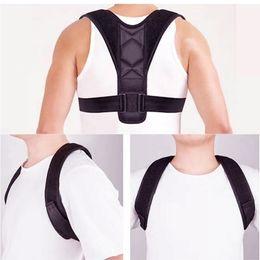 46271bada9a9a Adjustable Back Posture Corrector Clavicle Spine Back Shoulder Lumbar Brace  Support Belt Posture Correction Prevents Slouching