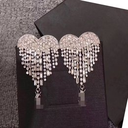 Wholesale Brooch Earrings - &#933sl luxury hot full crystal set heart style fashion earrings or brooch high quality free shipping