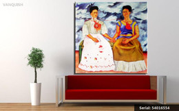 Wholesale giclee poster - VANQUISH Frida Kahlo Original The Two Fridas c1939 GICLEE poster print on canvas Portrait Classical oil Painting 54016554