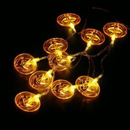 luci stringa del cranio Sconti Hanging Halloween Decor Pumpkins / Ghost / Spider / Skull LED String Lights Lanterne Lampada per fai da te Home Outdoor per feste