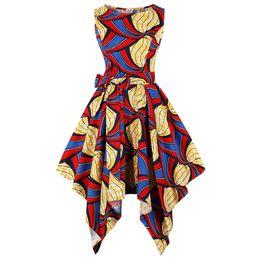 Corsés amarillos de talla grande online-Wipalo Plus Size Nation Printing Vintage Party Dress Summer Women sin mangas amarillo Big Hem Corset Retro Dress Vestidos femeninos