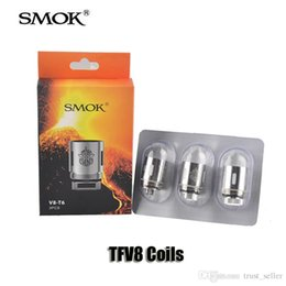 Wholesale T8 Atomizer Coil - Authentic Smok TFV8 Coils V8-T8 V8-T6 V8-Q4 V8-X4 V8-T10 Replacement Coil head for TFV8 Cloud Beast Tank Atomizers