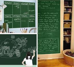 tuiles de son Promotion Tableau de craie tableau noir autocollants amovible PVC dessiner décor stickers muraux art tableau noir sticker mural pour chambres d'enfants 45 * 200 cm c082
