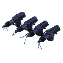 Wholesale Motor Actuator 12v - 4Pcs Set Universal Car Power Central Auto Locking System Motor for Trunk Doors Lock Actuator Professional 12V Car Alarm Device