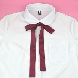 2019 legame di arco del collo delle ragazze JK Bow Tie Classico giapponese High School Girls Neck Tie Collare Corda tinta unita Dolce Preppy Chic Graduation Photo Black legame di arco del collo delle ragazze economici