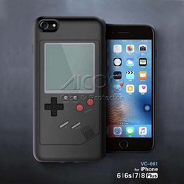 Wholesale Game Console Cases - Gameboy Tetris Phone Cases Play Blokus Game Console Cover TPU Shockproof Protection Case For Iphone 6 6s 7 8 Plus Retail package