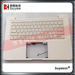 "Wholesale unibody macbook - Original Used White A1342 Top Case For Macbook Unibody 13"" A1342 Palmrest Palm Rest Topcase With US Layout Keyboard"
