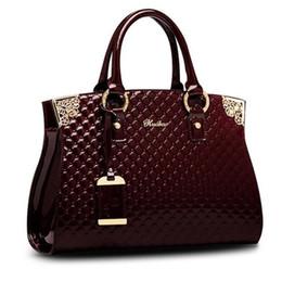 Las mujeres genuinas de charol bolsos de lujo bolso de Crossbody del hombro del bolso del diseñador monedero Satchel Messenger Bag Ladies Tote bag desde fabricantes