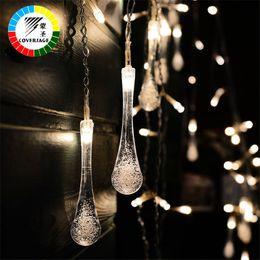 Wholesale Luces Led Navidad - Coversage Lucine Luces Led Navidad Fairy String Lights Wedding Curtain Guirlande Lumineuse Cortina Led String Lights Decorativas