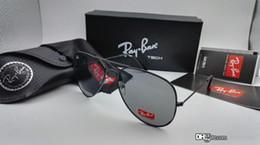 Wholesale Mirror Aviator Mirrored - New Sunglasses Men Women Pilot RAY 62mm UV400 Vintage Aviator Mirror Band Polarized Bain Ben Glass Lenses Sun Glasses RANEV BANS with cases