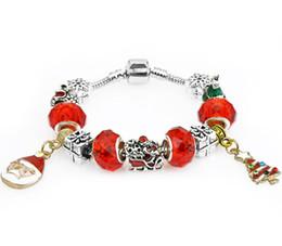 Pulseira de homem on-line-Elementos de natal 925 Sterling Silver Pulseiras Fit Pando Charme Bead Bangle Bracelet Jóias Presente Para As Mulheres Dos Homens 9527