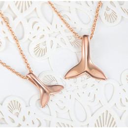 Deutschland Mode Rose Gold Choker Halskette Schmuck Vintage Einfache Wal Fischschwanz Delphin Schwanz Charme Anhänger Kette Halskette Für Femme Männer Bijoux supplier gold whale pendant Versorgung