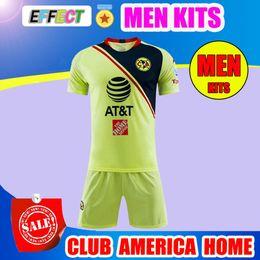 5278ec369 2019 LIGA MX Club America Soccer Jersey MEN KITS O.PERALTA I.RENATO 18 19  Mexico's Goalkeeper Home Away Football Shirt Adult Sets