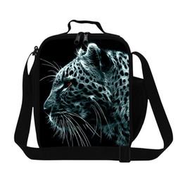 2019 sac à lunch Dispalang Leopard Lunch Sacs isothermes pour garçons Isolé pour le déjeuner Pack Messenger Panda Tiger Bird Sac isotherme pour Box Enfants sac à lunch pas cher