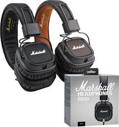 2019 auriculares somic Marshall Major II 2 Auriculares de 2ª generación Auriculares con cancelación de ruido Deep Bass Monitor de estudio Rock DJ HiFi auriculares Negro Marrón