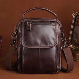 0dacba1caddc5 männer ledertaschen trend Rabatt Öl Wachs Rindsleder echtes Leder Männer  Handtasche Vintage Trend männlichen Business Messenger