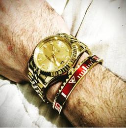braccialetto d'ottone africano Sconti Orologio unisex in acciaio inossidabile 316l. Bracciale classico tachimetro. Amanti in titanio, quadrante per San Valentino, contachilometri, braccialetti BCB-0121