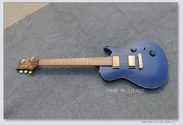 Wholesale Guitar Bird Custom - Custom Shop Blue Flame Anniversary Electric Guitar Birds Inlay OEM From China