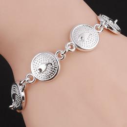 Cheville de poisson en Ligne-Hésiode Femmes Bracelets Bracelets Poissons Boutons Sculptés Perles Bracelets Bracelets De Chaîne Couleur Argent