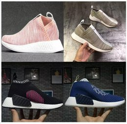 Wholesale Popular Cities - City Sock 2 Primeknit Shock Pink Pack mid-top casual sneaker Primeknit Shoes For Men And Women Training Sneaker,Popular Casual Boos
