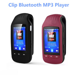 Wholesale Pedometer Radio - Clip Sport Bluetooth mp3 player 8GB HOTT 1037 Pedometer Bluetooth FM Radio w TF Card Slot Stereo Music Player 1.8 LCD Screen