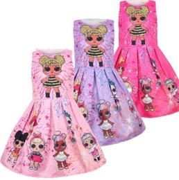2019 платья для кукол 3 Цвет новорожденных девочек платья без рукавов мода девушка Мультфильм Принцесса кукла печатных платья хлопок модули платья дети детская одежда KKA5968 скидка платья для кукол