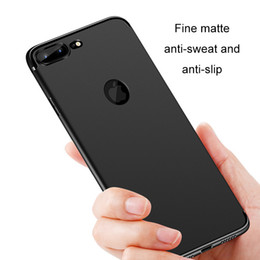 Wholesale wholesale matting - Soft TPU Silicone Cases For iPhone X 8 7 Plus 6s Slim Case 0.8mm 360 Full Cover Protective Matting Cell Phone Shell
