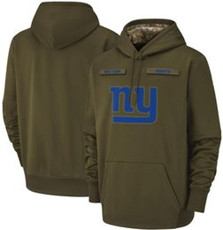cotton new york Coupons - 2018 men New York Sweatshirt Giants Salute to Service Sideline Therma Performance Pullover Hoodie Olive