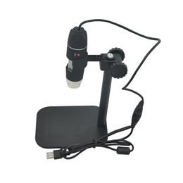 Argentina USB microscopio electrónico digital Cámara electrónica estéreo Lupa led 50X a 500X Lupa Gafas Escritorio Lupa Negro Suministro