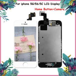 Canada Ensemble complet d'écran LCD pour iphone 5 5C LCD pour iphone Partie Assemblée de remplacement LCD avec bouton d'accueil + appareil photo Offre