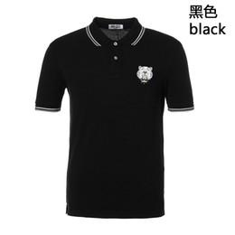 polo verde morado Rebajas En 2018, la nueva camiseta de verano de la camiseta de la manga corta de los hombres de negocio de la marca, del tigre y de la manera de lujo es envío libre