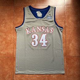 b209424d0  34 Paul Pierce Kansas Jayhawks KU College Basketball Jersey Men s  Embroidery Stitches Customize any Number and name jerseys