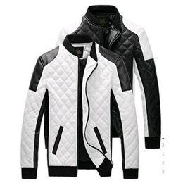 2018 Moda Giacche in pelle da uomo Cappotti Autunno Nero Bianco reticolo di pelle Uomo cappotto pelle scamosciata Giacca invernale cheap white suede jacket da giacca scamosciata bianca fornitori