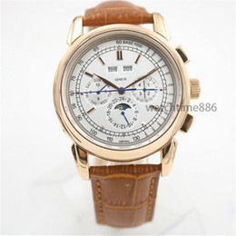 Wholesale A2 Leather - 2018 Luxury Watch New Leather Fashion Mechanical Men's Stainless Steel Automatic Movement Watch Sports Mens Self-wind Watches Wristwatch A2