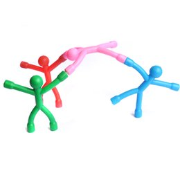 Wholesale Fun Novelties - Bendable Magnet Man Toys fun funny gadgets novelty toys for men and kids Figure Sticker Office action figure Amazing Mini Q-Man