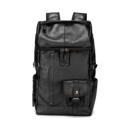 Wholesale Leather Fashionable Backpacks - Wholesale brand mens bags fashionable large capacity leather backpack British retro leisure men backpack outdoor travel leather backpack