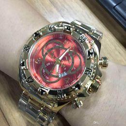 Venta caliente tamaño grande de buena calidad hombres invicta reloj correa de acero inoxidable Relojes para hombre Relojes de pulsera de cuarzo relogies para hombres relojes Mejor Gif desde fabricantes