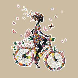 Bicicletas personalizadas online-17 * 20 CM Plancha de viaje de la muchacha de los hierros del hogar de la muchacha imprimió los remiendos de DIY modificados para requisitos particulares para la camiseta de las sudaderas con capucha Top Clothes Thermal Transfer Patch para la ropa
