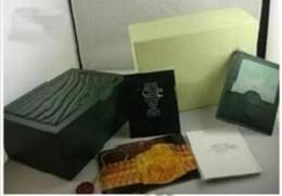 Top qualité montre de luxe Hommes Pour Rolex Watch Box Original Inner Outer Womans Montres Boîtes Hommes Montre Vert boîte livret carte ? partir de fabricateur