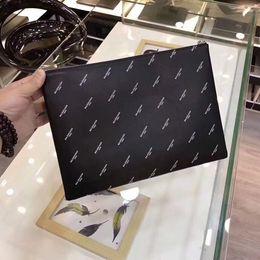Wholesale cluth purse - BALENCIA brand designer purse men cluth men's designer handbags genuine leather wallet purse famous brand BALENCIA hand bags