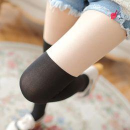 Wholesale Black Pantyhose Legs - 1Pc Female Tights Woman's Pantyhose Sexy Female Women's Stockings Elastic Leg Warmers Winter Tights Warm Nylon Pantyhose
