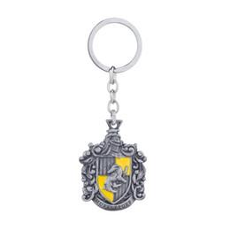 harry llaveros potter escuela mágica Gryffindor Hufflepuff Ravenclaw Slytherin logo llavero llavero School Crest logo coche llavero desde fabricantes
