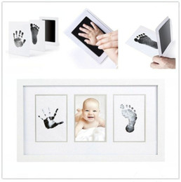 "Wholesale Wholesale Baby Keepsakes - Baby inkless safe newborn ""clean-touch"" handprint and footprint ink pads kit with white cards 100% non-toxic & mess free"