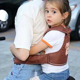 cair seguro Desconto Crianças Cinto de Segurança Da Motocicleta Veículo Elétrico Ajustável Crianças Arreios Seguros Trelas Padrão Animal Queda Prevenção