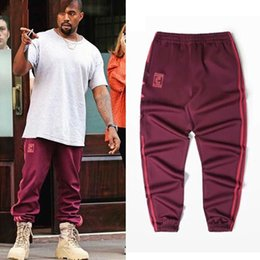 Wholesale loose sweatpants - Wholesale Kanye West Season 4 Crewneck Sweatpants S-3XL CALABASAS Pants Men Loose Joggers Comfortable Men Elastic Pants Hip Hop KMK0050-4