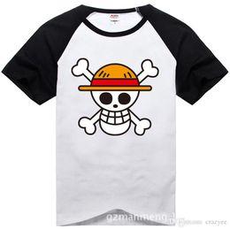 Marcas de roupas japonesas homens on-line-One piece t shirt 2017 moda japonês anime clothing voltar cor luffy algodão t-shirt para o homem e as mulheres, marca Camiseta, TH001