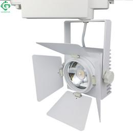 Wholesale Art Deco Clothing - Track Lighting Rail Lamp Art Deco 25W Vintage Shoe Clothing Track Light LED Rail Lighting Systems Spot Light